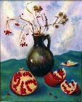 Tanya Andreeva - Oil painting Still Life with pomegranates