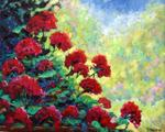 Richard T Pranke - Каскад самого Geraniums_sold