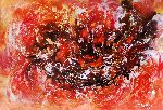 Natalya Zhdanova - Colorful painting on paper Danse of Fire. large original abstract paper wall art.