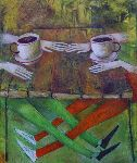 Ahmedov Zakir - 17.Cafe 2013year21x17inOriginal Painting Oil on Canvas 3500$
