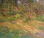 Aleksandr Dubrovskyy - Walking in the forest Painting by Aleksandr Dubrovskyy