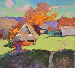 Shandor Alexander - Old village _ oil on canvas