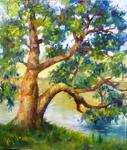 Tanya Andreeva - Oil painting tree over water